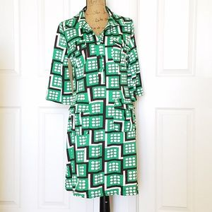 🆕️BCBGMAXAZRIA retro print dress. with pockets!👀